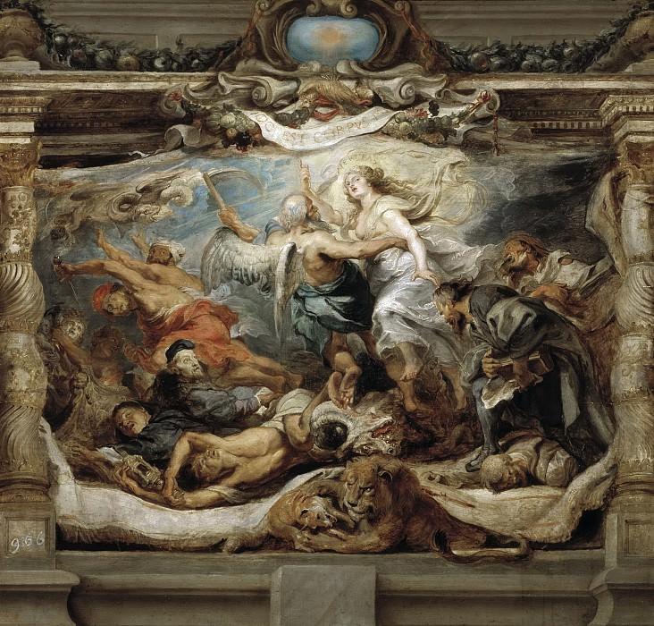 Rubens, Pedro Pablo -- Triunfo de la Verdad Católica. Part 4 Prado Museum