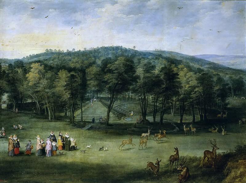 La infanta Isabel Clara Eugenia en el parque de Mariemont. Jan Brueghel The Elder