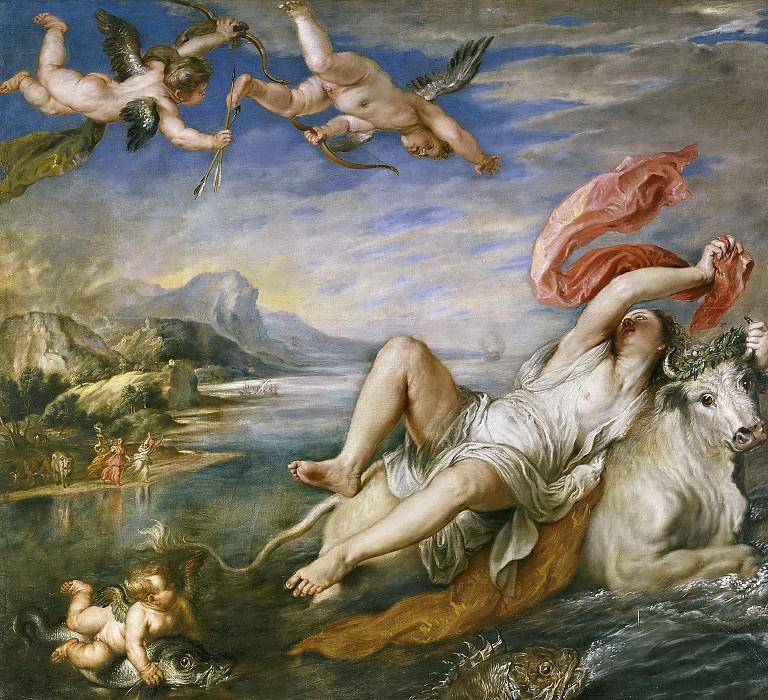 Рубенс, Питер Пауль -- Похищение Европы (копия Тициана). Часть 4 Музей Прадо