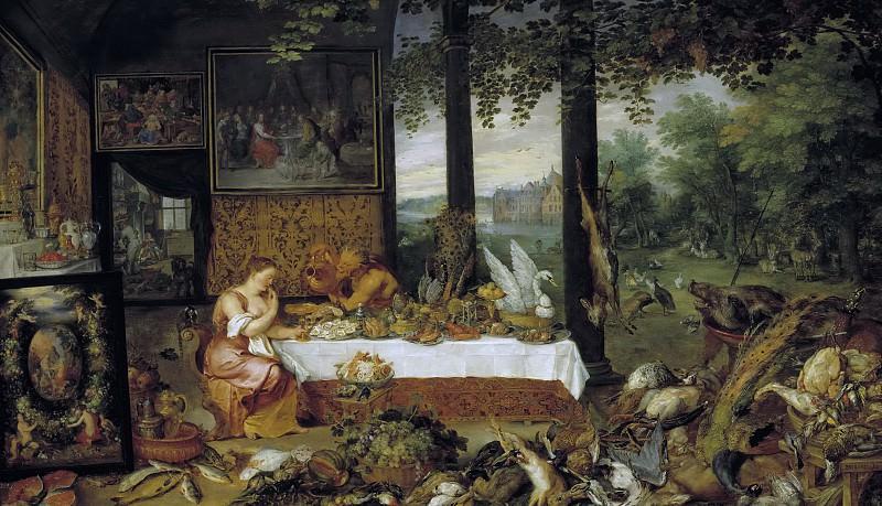 Allegory of taste. Jan Brueghel The Elder