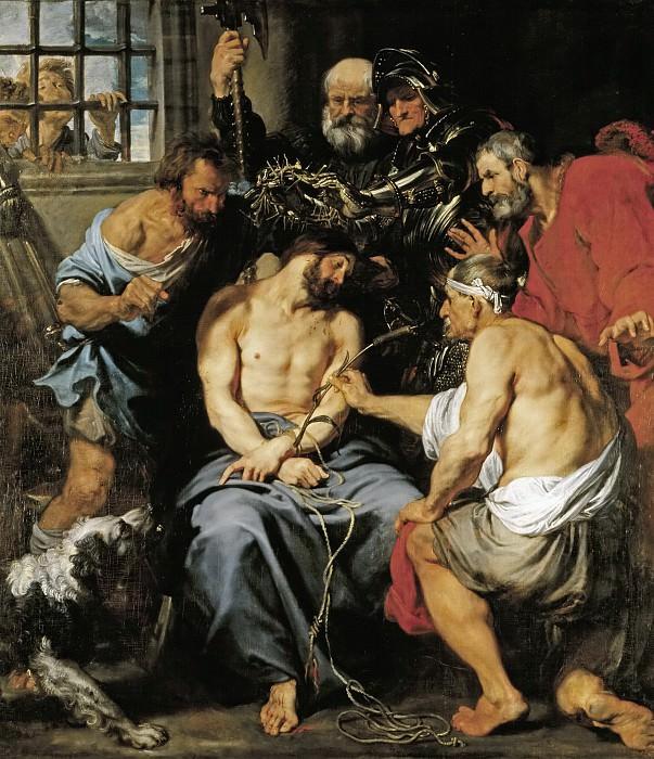 Dyck, Anton van -- La Coronación de espinas. Part 4 Prado Museum