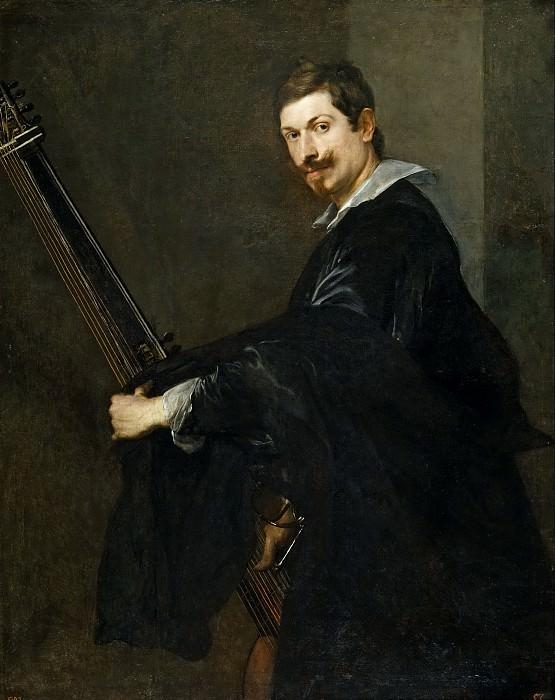 Дейк, Антонис ван -- Мужчина с лютней. Часть 4 Музей Прадо