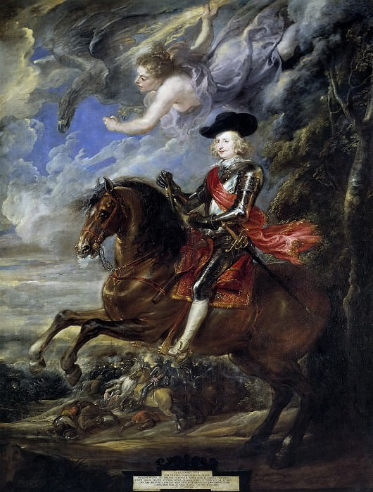 Кардинал-инфант Фердинанд Австрийский в битве при Нордлингене. Питер Пауль Рубенс