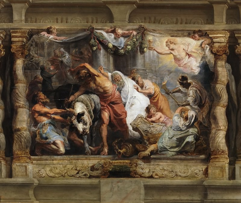 Triunfo de la Eucaristía sobre la Idolatría. Peter Paul Rubens