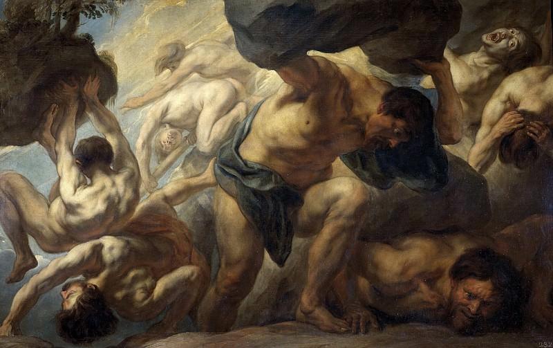 Jordaens, Jacob -- La caída de los Gigantes. Part 4 Prado Museum