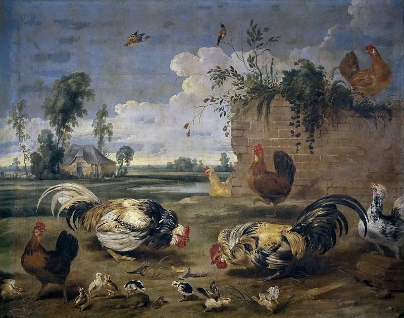 Snyders, Frans -- Lucha de gallos. Part 4 Prado Museum