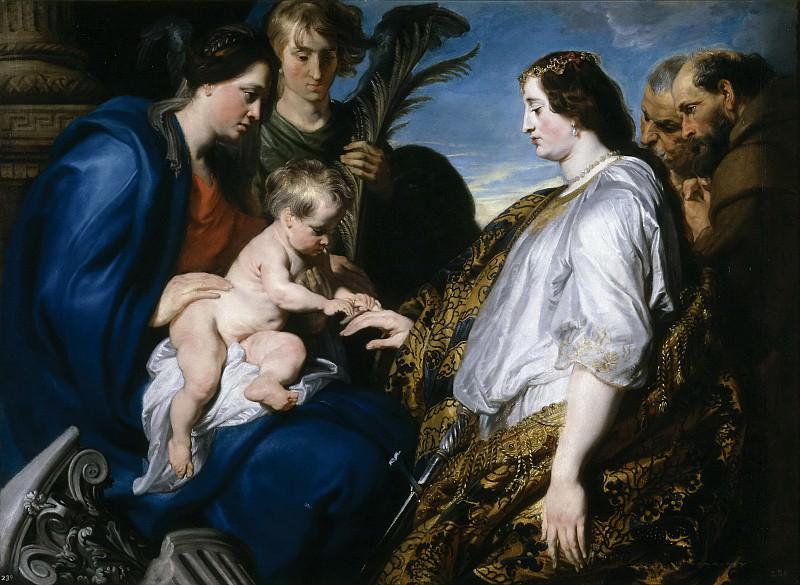 Dyck, Anton van -- Desposorios místicos de Santa Catalina. Part 4 Prado Museum