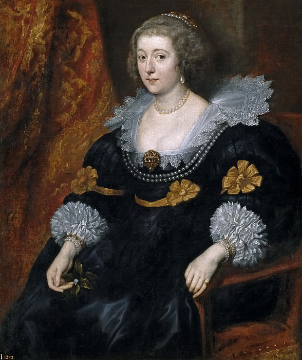 Dyck, Anton van -- Amalia de Solms-Braunfels. Part 4 Prado Museum