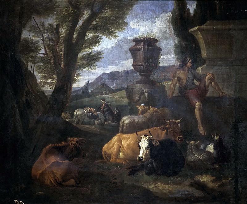 Bloemen, Peeter van -- Paisaje romano (el Campo Vacino de Roma). Part 4 Prado Museum