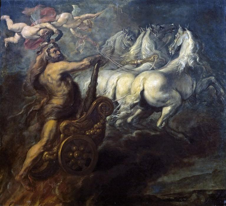 Borkens, Jean Baptiste -- La Apoteosis de Hércules. Part 4 Prado Museum
