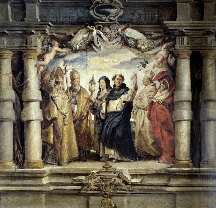 Rubens, Pedro Pablo -- Santa Clara entre los padres y doctores de la Iglesia. Part 4 Prado Museum
