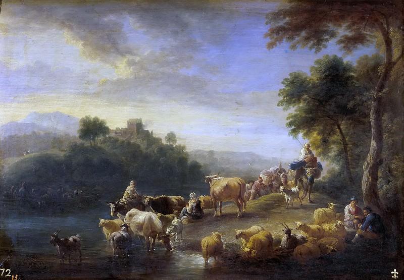 Boudewijns, Adriaen Fransz. -- Paisaje con ganado. Part 4 Prado Museum