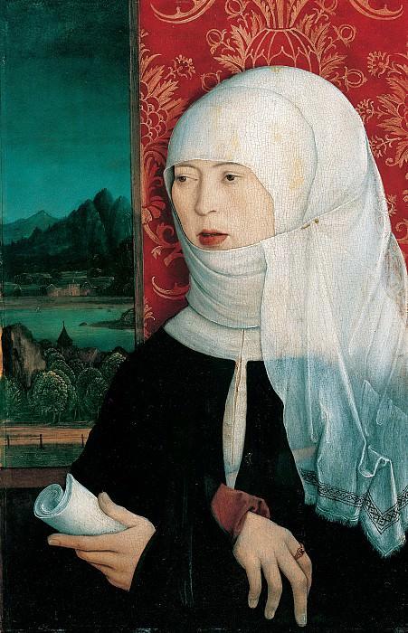 Бернхард Штригель - Портрет жены доктора Георга Танстеттера. ок1515. 42х29. М Лихтенштейн. Liechtenstein Museum (Vienna)