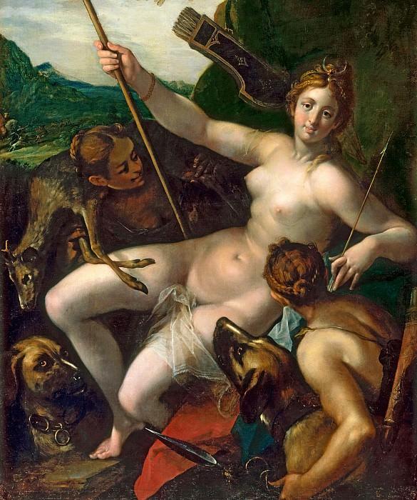 Ганс фон Ахен - Диана с нимфами после охоты. ок1602. М Лихтенштейн Вена. Музей Лихтенштейн (Вена)