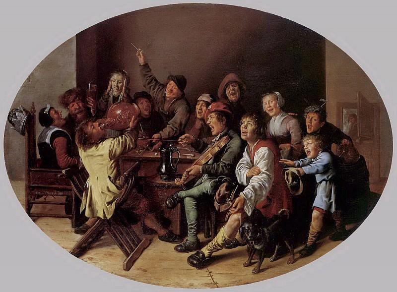 Ян Минс Моленар - Король пьет. 1636-37. 42х55. Собр Лихтенштейн Вадуц. Музей Лихтенштейн (Вена)