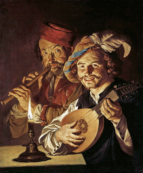 Маттиас Стомер - Лютнист и флейтист. 1640-е. 90х79. Колл Букхейм. Музей Лихтенштейн (Вена)