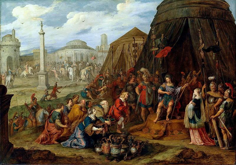 Франс Франкен II - Великодушие Сципиона (совм Якоб III Йорданс). 1621.98х140. Колл Гогенбухау. Liechtenstein Museum (Vienna)