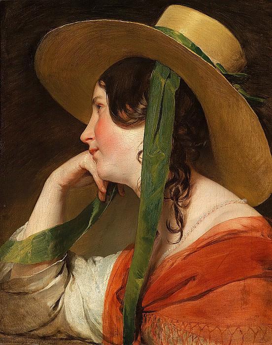 Фридрих фон Амерлинг - Девушка в широкополой шляпе. 58х46. М Лихтенштейн. Liechtenstein Museum (Vienna)