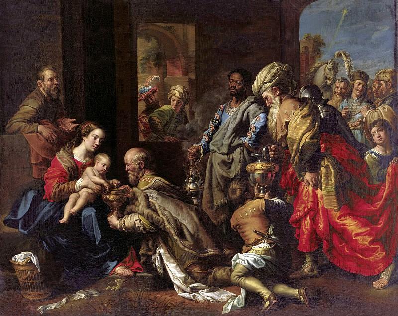 Теодор ван Лон - Поклонение волхвов. 180х227. М Лихтенштейн. Музей Лихтенштейн (Вена)