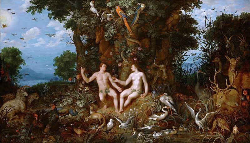 Рулант Саверей и Корнелис ван Харлем - Грехопадение. 1618. Колл Гогенбухау. Liechtenstein Museum (Vienna)