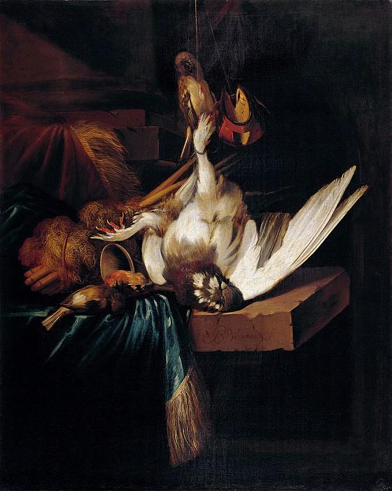 Ян Батист Веникс - Натюрморт с битой птицей на каменном столе. 70х56. М Лихтенштейн. Liechtenstein Museum (Vienna)