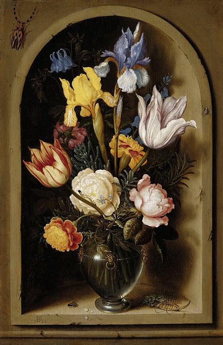 Амбросиус Босхарт I - Натюрморт с цветами в нише. 35х23. М Лихтенштейн. Liechtenstein Museum (Vienna)