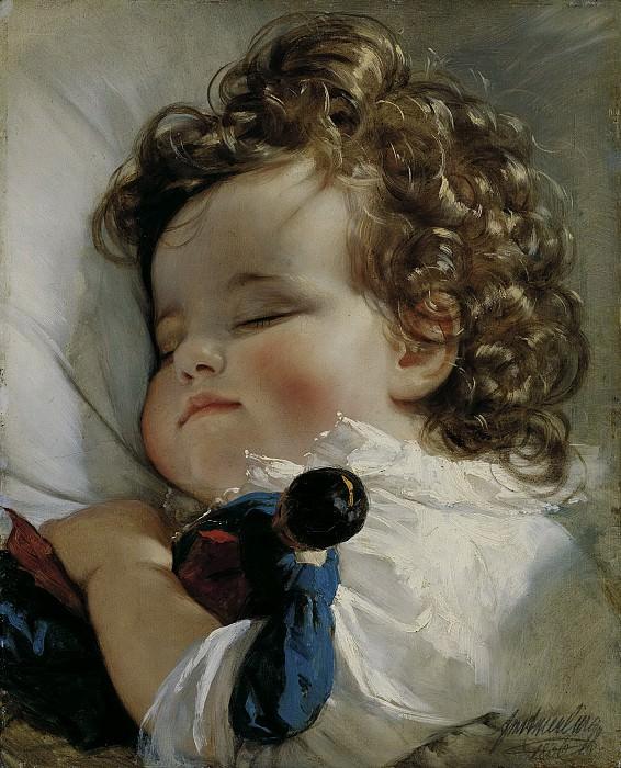 Фридрих фон Амерлинг - Портрет принцессы Марии Франциски Лихтенштейн. 33х27. М Лихтенштейн. Liechtenstein Museum (Vienna)