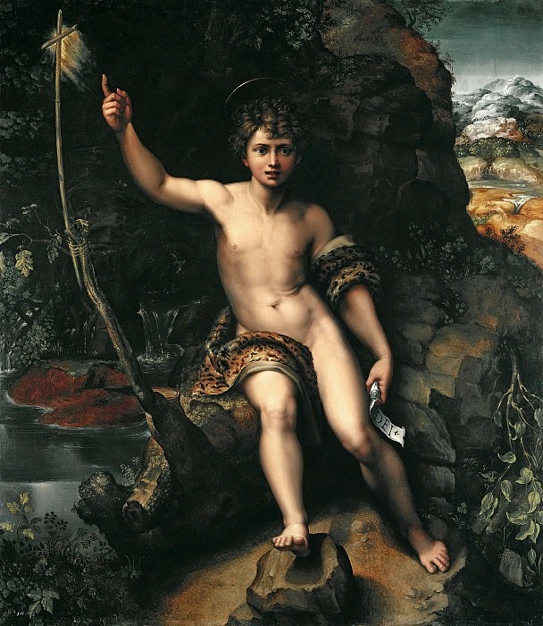 Джулио Романо - Иоанн Креститель. 178х154. М Лихтенштейн. Liechtenstein Museum (Vienna)