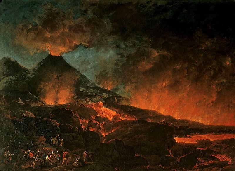 Михаэль Вутки - Извержение Везувия. Колл графов Харрах замок Рохрау Вена. Liechtenstein Museum (Vienna)