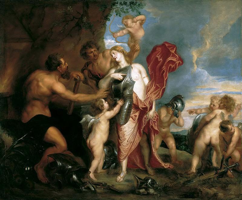 Антонис ван Дейк - Венера показывает доспехи Энею, выкованные Вулканом. 1629-32. 118х143. М Лихтенштейн. Liechtenstein Museum (Vienna)
