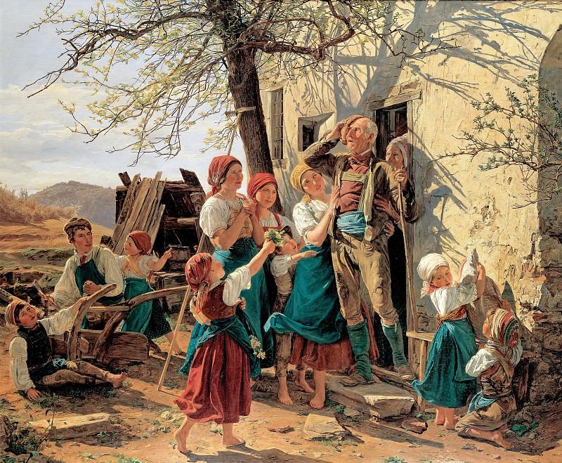 Фердинанд Георг Вальдмюллер - Путь в новую жизнь. 1848. 66х76. М Лихтенштейн. Музей Лихтенштейн (Вена)