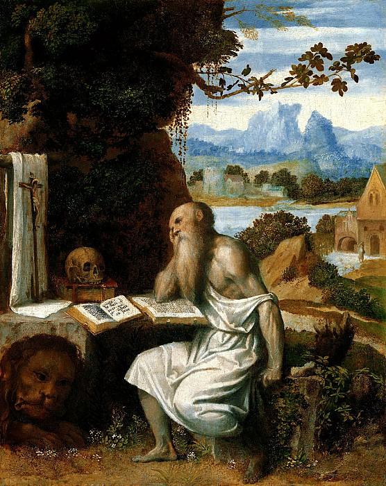 Моретто да Брешиа - Св Иероним. ок1525. 39х31. М Лихтенштейн. Liechtenstein Museum (Vienna)