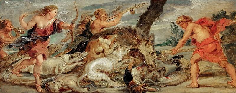 Охота Мелеагра и Аталанты. ок1628. 24х62. М Лихтенштейн. Peter Paul Rubens