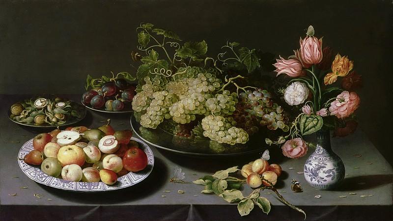 Осиас Беерт - Натюрморт с цветами и фруктами. 67х117. М Лихтенштейн. Liechtenstein Museum (Vienna)