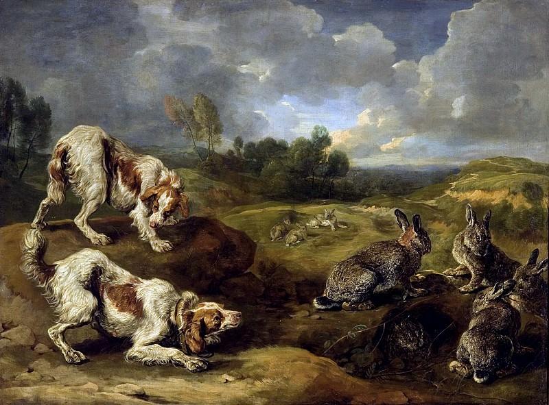 Ян Фейт - Охотничьи собаки и дикие кролики. 117х157. М Лихтенштейн. Liechtenstein Museum (Vienna)