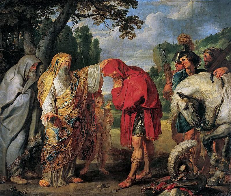 Питер Пауль Рубенс - Публий Деций Мус готовится к смерти. 1617. 284х336. М Лихтенштейн. Liechtenstein Museum (Vienna)