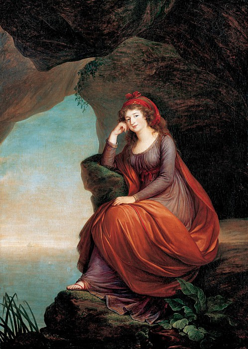 Луиза Виже-Лебрен - Принцесса Мария-Жозефа Эстерхази в образе Ариадны. 1793. М Лихтенштейн. Liechtenstein Museum (Vienna)