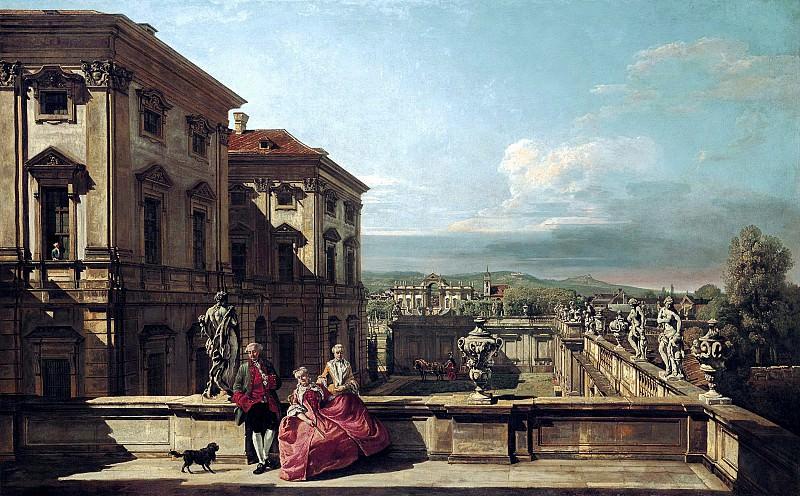 Бернардо Беллотто - Вид с востока на сад дворца Лихтенштейн. 1760. 100х160. М Лихтенштейн. Liechtenstein Museum (Vienna)