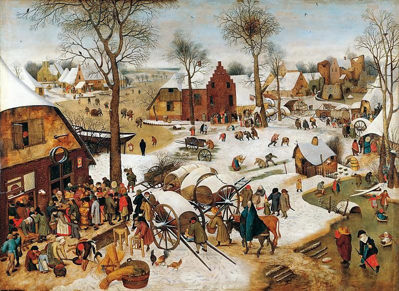 Питер Брейгель II - Перепись в Вифлееме. 122х169. М Лихтенштейн. Liechtenstein Museum (Vienna)