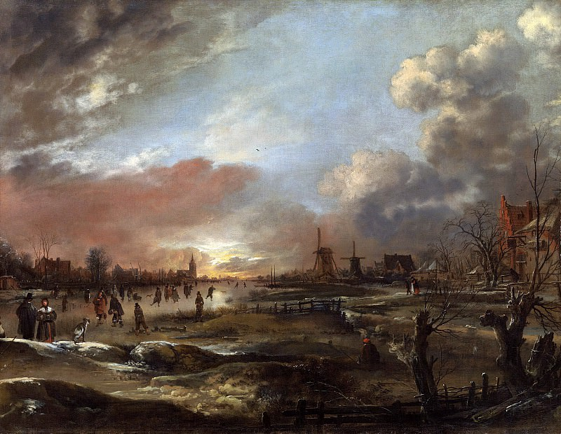 Арт ван дер Нер - Зимний пейзаж. 98х126. Колл Гогенбухау. Музей Лихтенштейн (Вена)
