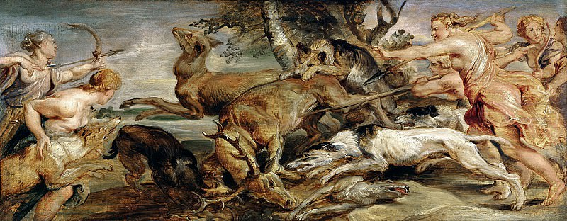 Охота Дианы. 1628. 24х62. М Лихтенштейн. Peter Paul Rubens
