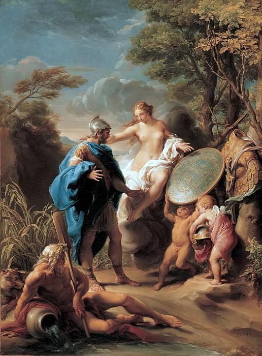 Помпео Батони - Венера показывает Энею щит, выкованный Вулканом. 1748. 99х74. М Лихтенштейн. Liechtenstein Museum (Vienna)