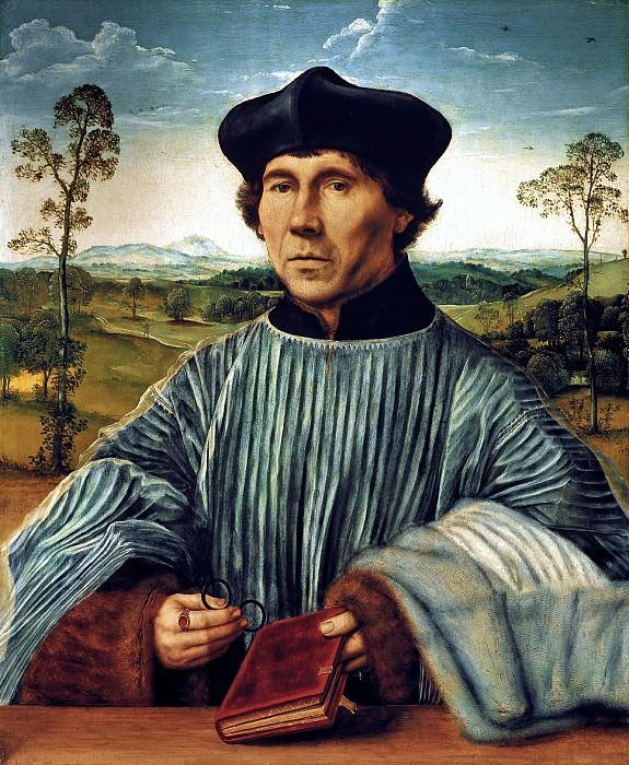 Квентин Массейс - Портрет каноника. до1523. 74х60. М Лихтенштейн Вадуц. Музей Лихтенштейн (Вена)