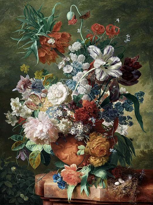 Ян ван Хейсум - Цветы в терракотовой вазе. 1725. 80х61. М Лихтенштейн. Музей Лихтенштейн (Вена)