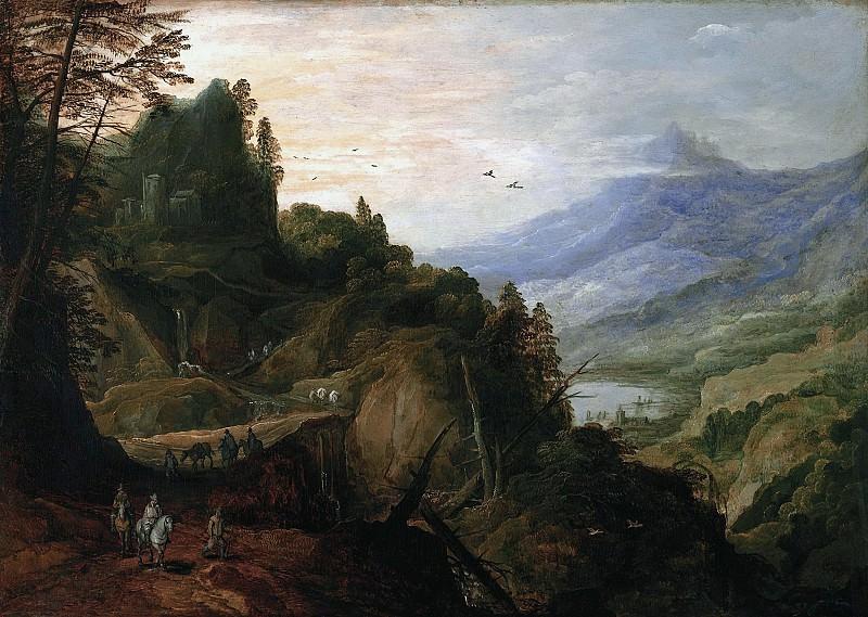 Йос де Момпер - Пейзаж с горной дорогой. 1600-е. 45х66. М Лихтенштейн. Liechtenstein Museum (Vienna)