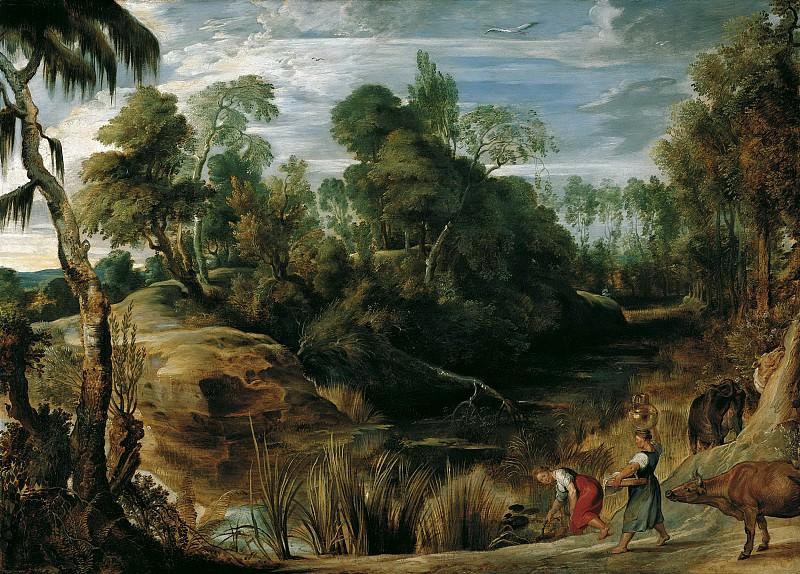 Пейзаж с доярками и коровами. 1616. 76х107. М Лихтенштейн. Peter Paul Rubens