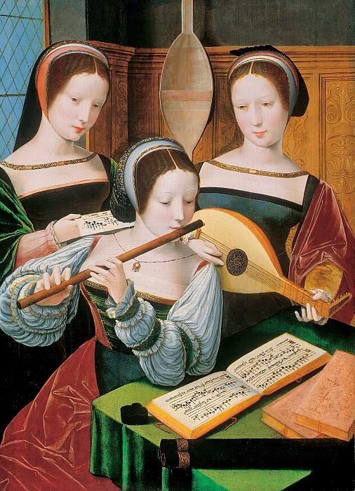 Мастер женских полуфигур - Три музыкантки. 60х53. Колл Харрах замок Рохрау. Liechtenstein Museum (Vienna)