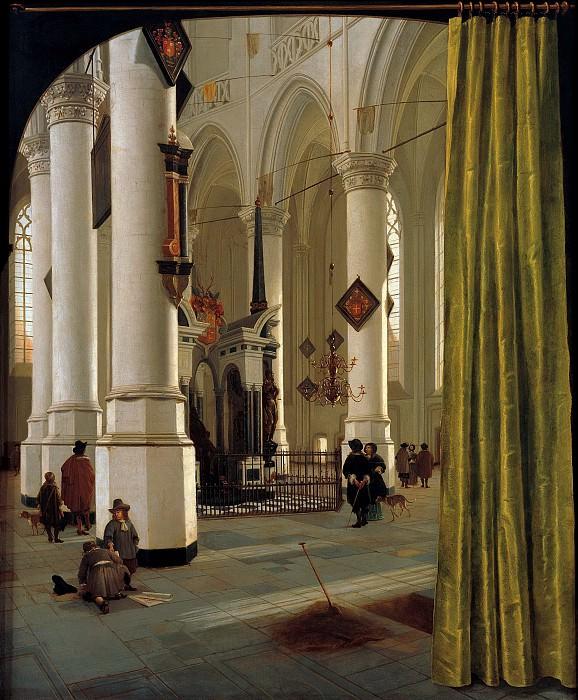 Хендрик ван Влит - Интерьер Оуде Керке в Делфте с гробницей Виллема, принца Оранского (1533-84). 1650-60. 102х85. М Лихтенштейн. Liechtenstein Museum (Vienna)