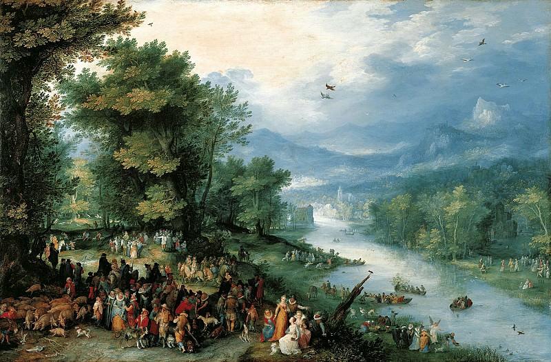 Ян Брейгель I - Пейзаж с Товием и ангелом. 1598. 36х55. М Лихтенштейн. Музей Лихтенштейн (Вена)
