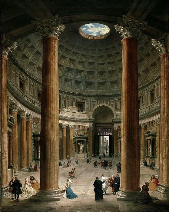 Джованни Паоло Паннини - Интерьер римского пантеона. 1735. 127х99. М Лихтенштейн. Музей Лихтенштейн (Вена)